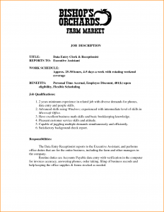 college application resume examples front desk receptionist job description
