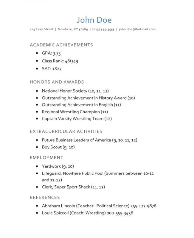 resume format job fresh format resume for job application to
