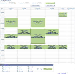 college class schedule template printable weekly class schedule
