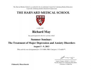college email signature dr richard may harvard medical school cme certificate