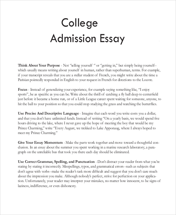 College application essay service outline
