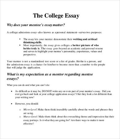 College Essay Format Template | Template Business