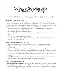 college admission sample essay
