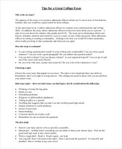 college essay format template sample college essay