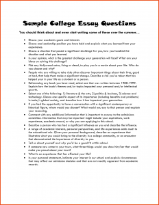 college essay template examples of college essays