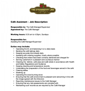 college graduate resume template cafe assistant job description