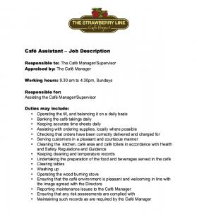 college graduate resume template cafe assistant job description