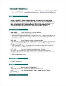 college graduate resume template resume for college students still in school