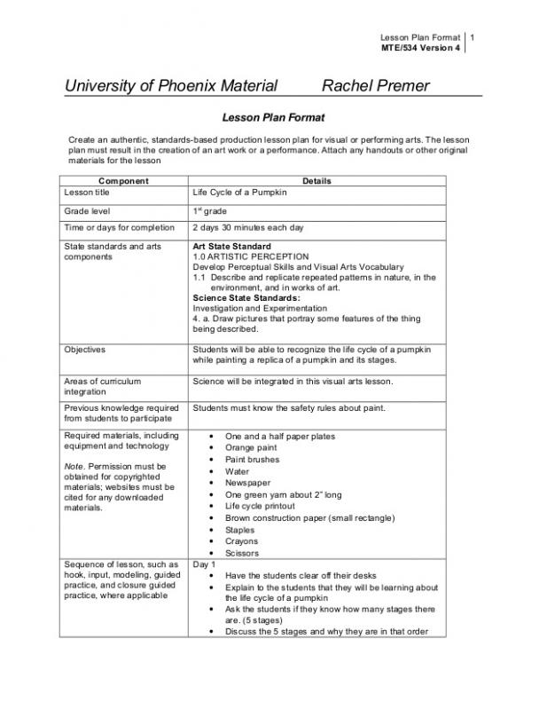 College Lesson Plan Template  Template Business
