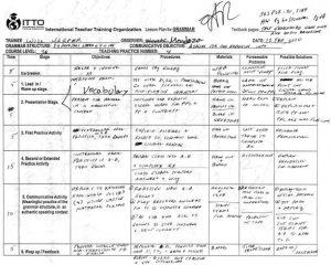 college lesson plan template tefl teaching class lesson plan level a grammar