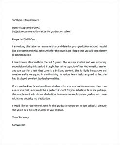 college recommendation letter sample college recommendation letter format
