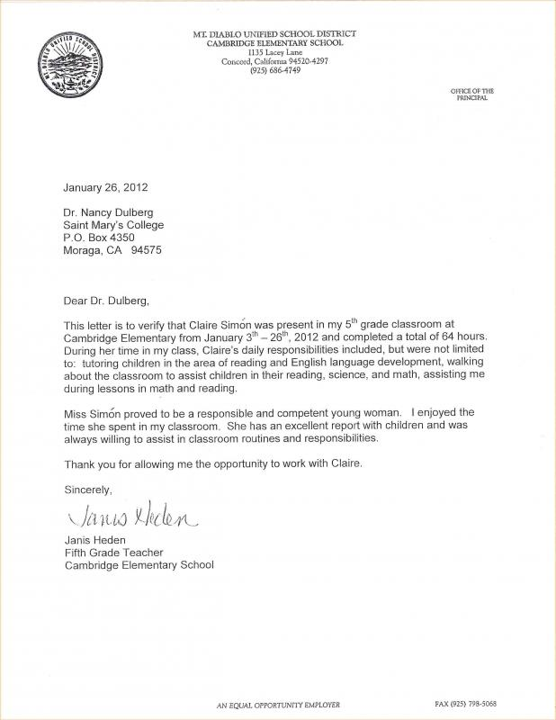 College Recommendation Letter Template