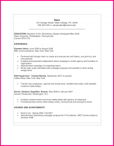 college recommendation letter template sample cv for students in college