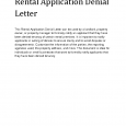 college rejection letter l rental application denial letter