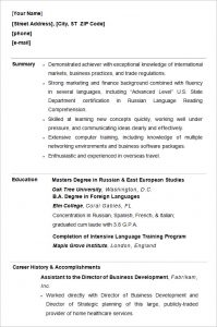 college resume format college student professional resume template