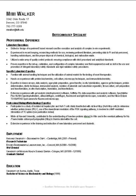college resume samples