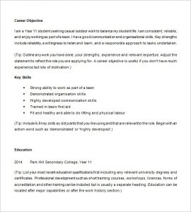 college resume template 10 high school resume templates free samples examples for high school resume