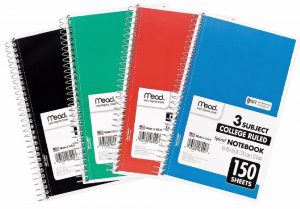 college ruled notebook paper s l