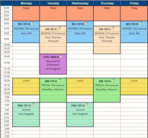 college schedule planner capture