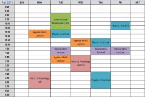 college schedule planner idealschedule