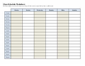 college schedule templates schedule worksheet templates