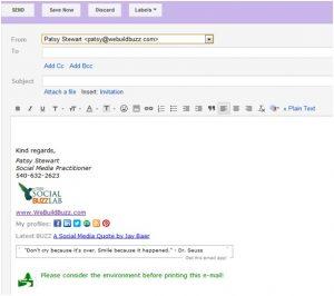 college student email signature aefefc wi