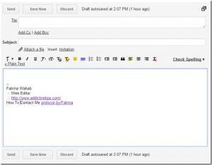 college student email signature mail signature thumb