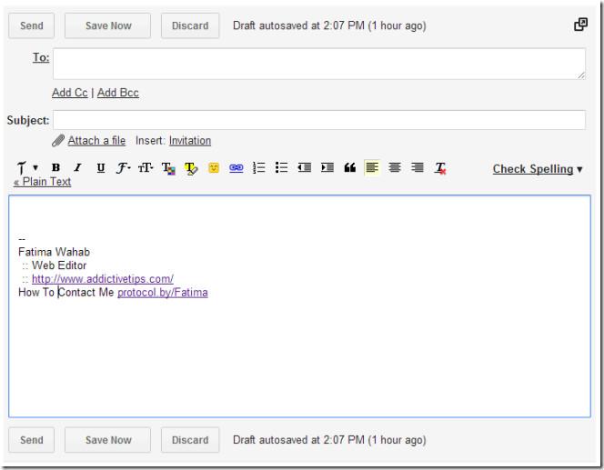 college student email signature