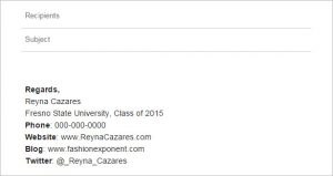 college student email signature university student email signature