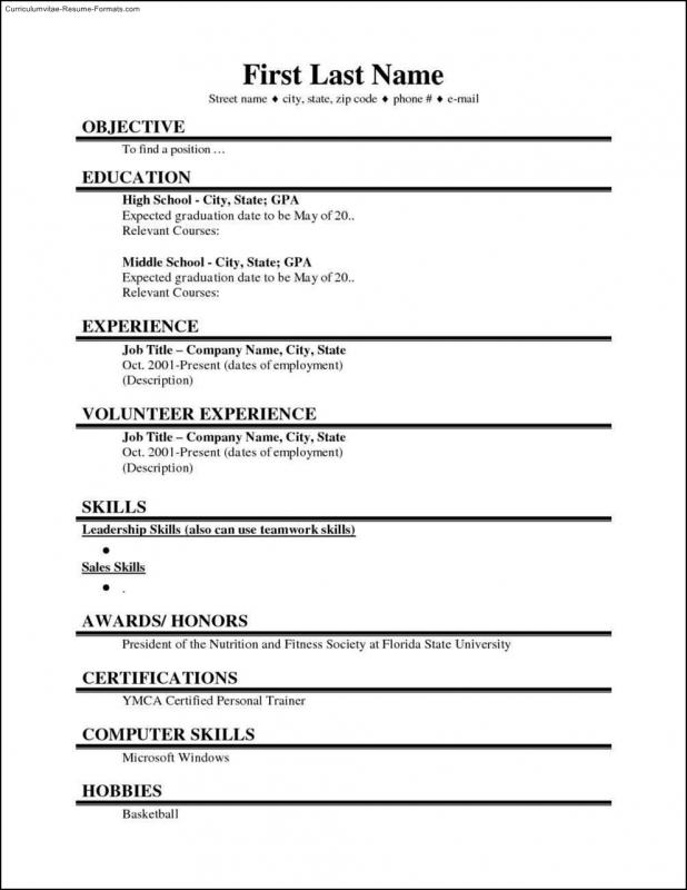 School Student Resume Templates Microsoft Phrase  High School Resume Template Microsoft Word