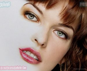 colored pencil drawings 13 milla jovovich photo realistic color pencil drawing by adinugroho