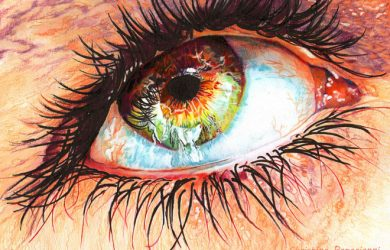 colored pencil drawings 16 eye hyper realistic color pencil drawing by christina papagianni
