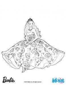 coloring pages barbie barbie princess coloring page