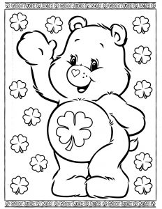 coloring pages barbie care bears coloring page