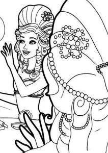 coloring pages barbie do wydruku kolorowanka barbie perlowa ksiezniczka malowanka dla dziewczynek