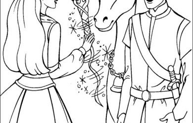 coloring pages of barbie barbie pegasus