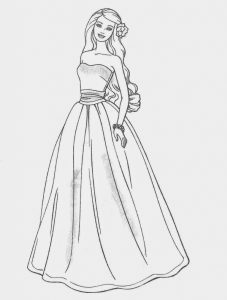 coloring pages of barbie black and white simple barbie photo free barbie wedding coloring pages cooloring
