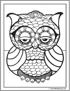 coloring pages pdf coloring pages geometric designs owl