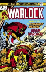 comic book cover template strange death of adam warlock