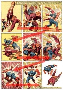 comic book layout template batroc vs capn