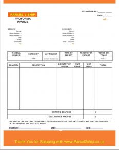 commercial invoice form job form sample part proforma invoice for services