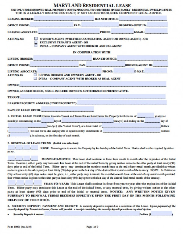Commercial Lease Agreement Template Word  Commercial Tenancy Agreement Template