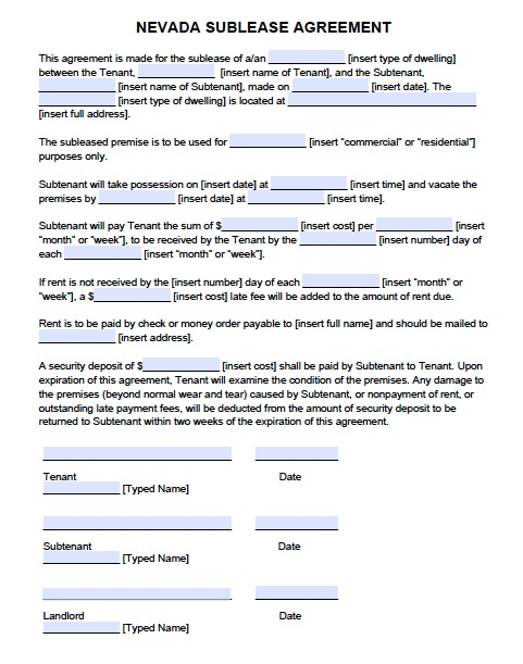 subletting lease agreement template - commercial lease agreement template word template business