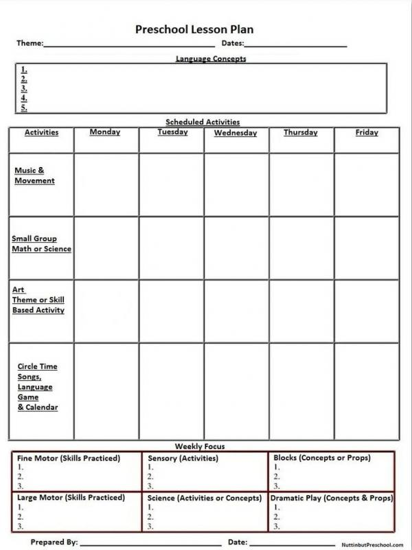 Common Core Lesson Plan Template Template Business - Blank lesson plan template