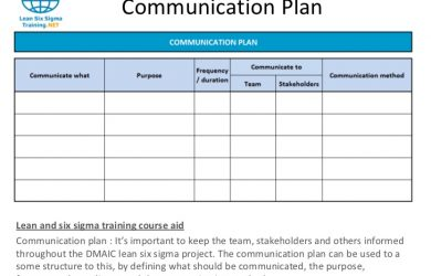 communication plan example slide