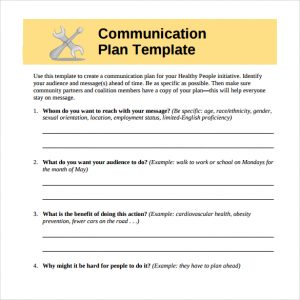 communication strategy template communication plan to print