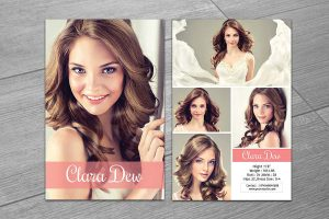 comp card template modeling comp card template