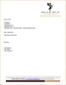 company letterhead example company letterhead example