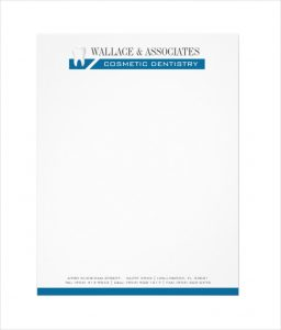 company letterhead example dental company letterhead template download