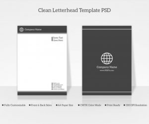 company letterhead sample clean letterhead template psd preview x
